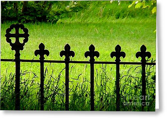 Fence And Cross Greeting Card