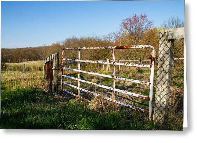 Fence And View Greeting Card