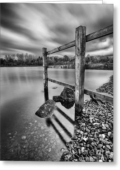 Fence In The Loch  Greeting Card by John Farnan