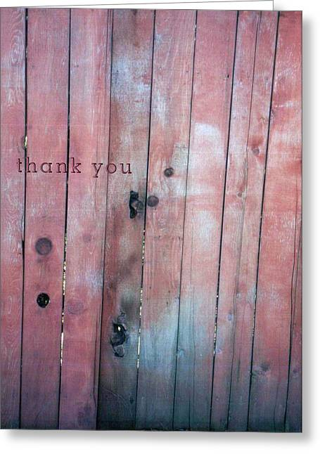 Fence Indian  And A Reminder To Utter The Words Thank You. Greeting Card