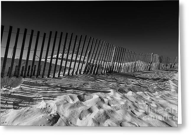 Fence On Beach Greeting Card