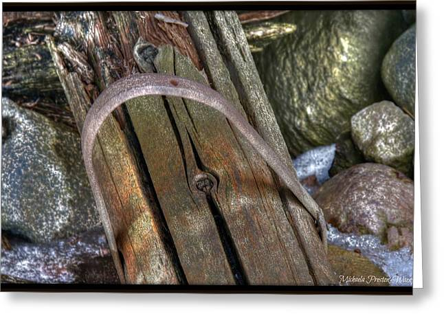 Fence Post Greeting Card by Michaela Preston