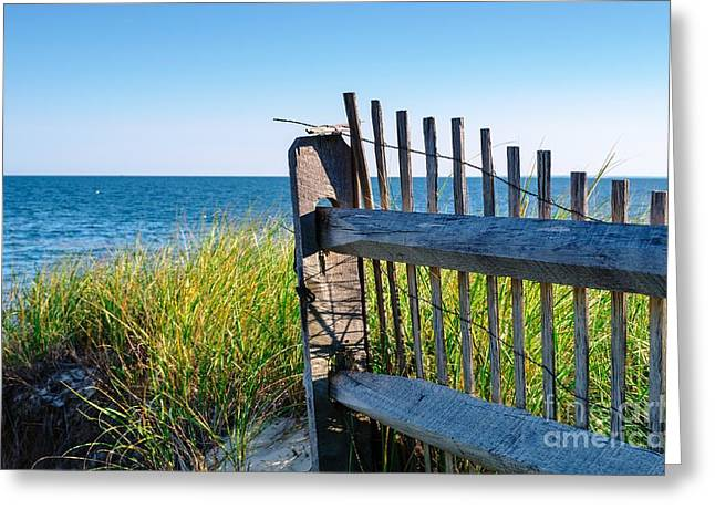 Greeting Card featuring the photograph Fence With A Great View by Mike Ste Marie