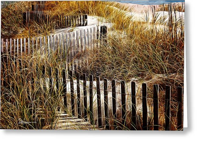 Fenced Off Greeting Card by EricaMaxine  Price