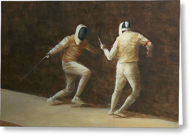 Fencing Greeting Card by Lincoln Seligman