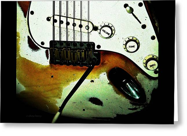 Fender Detail  Greeting Card by Chris Berry
