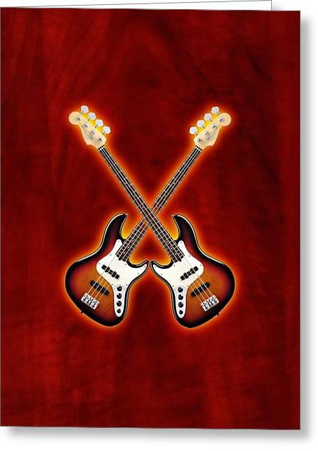 Fender Jazz Bass Lefty Greeting Card by Doron Mafdoos