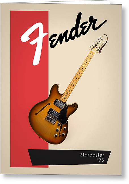 Fender Starcaster 75 Greeting Card