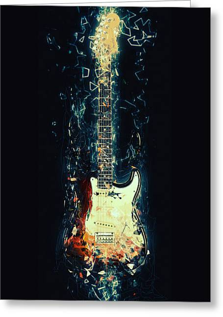 Fender Strat Greeting Card