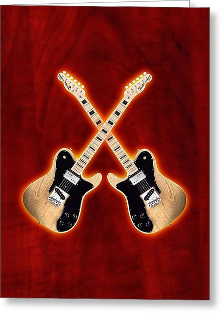 Fender Telecaster Custom Greeting Card by Doron Mafdoos