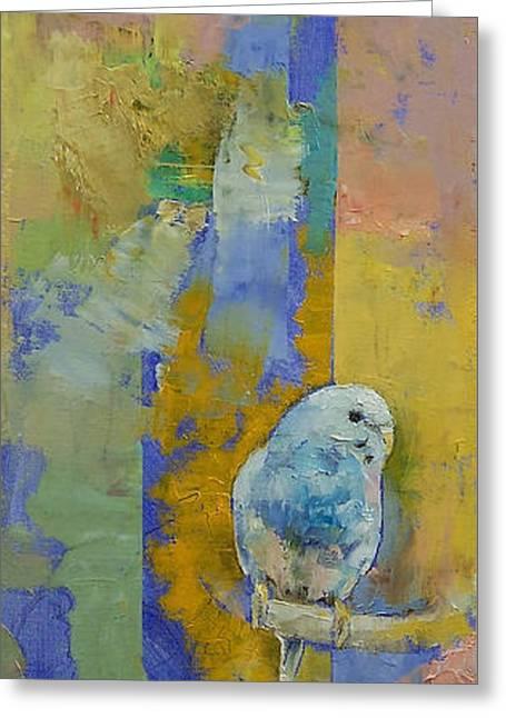 Feng Shui Parakeets Greeting Card