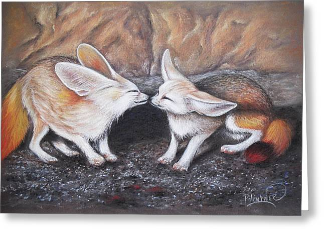 Fennec Love Greeting Card by Patricia Lintner