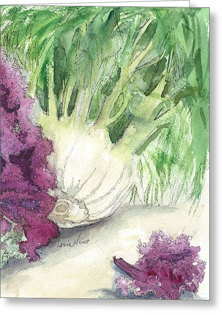 Fennel And Friend Greeting Card by Maria Hunt