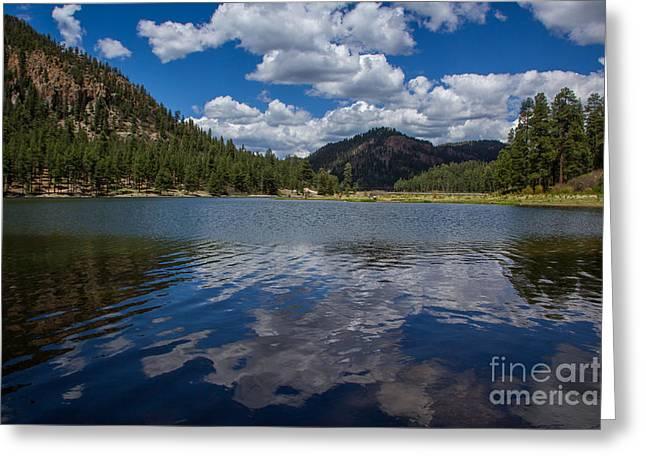 Fenton Lake Reflections Greeting Card by Jim McCain
