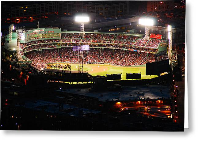 Fenway At Night Greeting Card