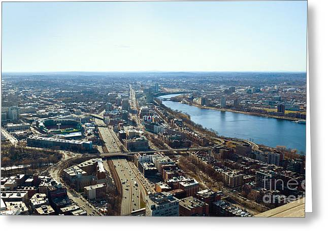 Fenway From The Top Of The Hub Greeting Card by Michelle Wiarda