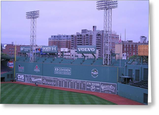 Fenway Left Field Greeting Card by Brian Hoover
