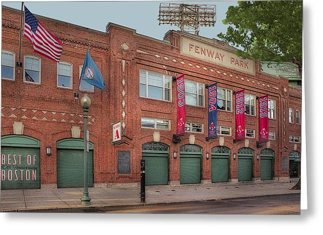 Fenway Park - Best Of Boston Greeting Card by Susan Candelario