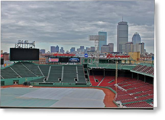 Fenway Park Boston Greeting Card by Amazing Jules