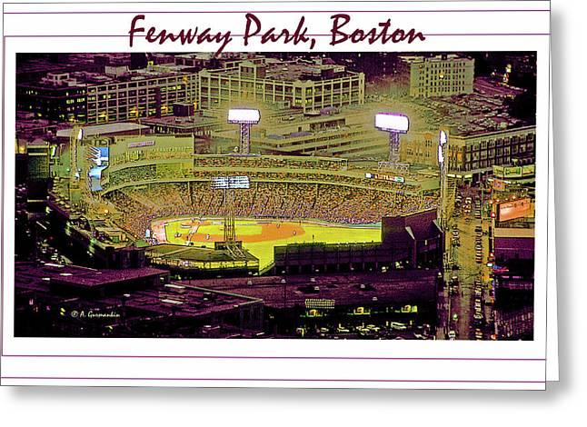 Fenway Park Boston Massachusetts Digital Art Greeting Card by A Gurmankin