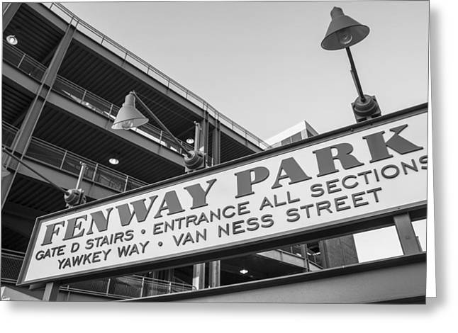 Fenway Park Sign Greeting Card