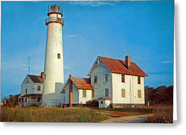 Fenwick Island Lighthouse 1950 Greeting Card