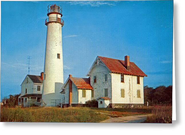 Fenwick Island Lighthouse 1950 Greeting Card by Skip Willits