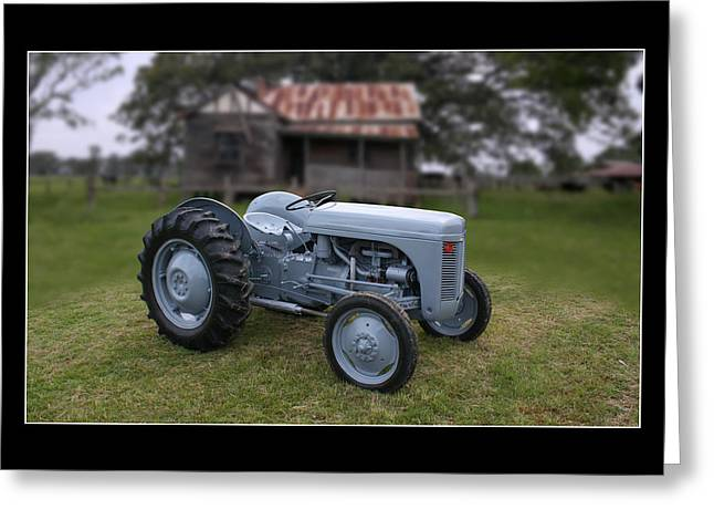 Greeting Card featuring the photograph Fergie Tractor by Keith Hawley