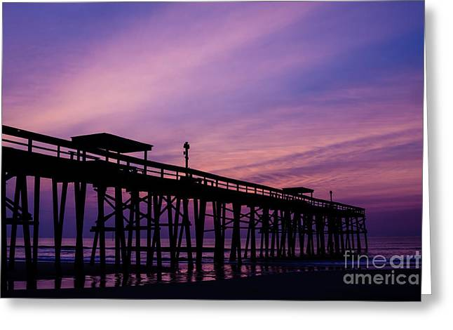 Fernandina Fishing Pier At Sunrise Greeting Card by Dawna  Moore Photography