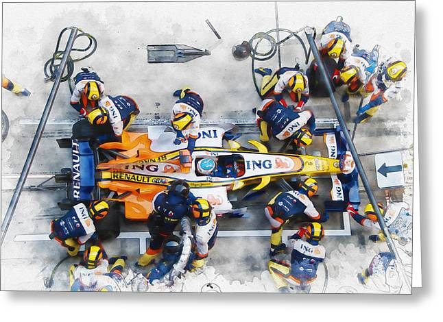 Fernando Alonso Greeting Card