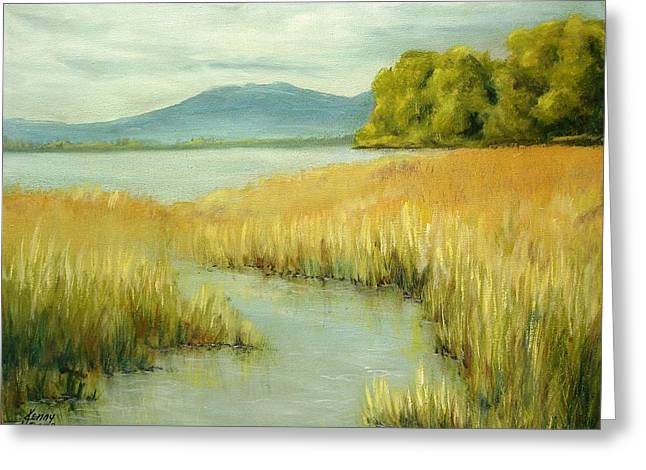 Greeting Card featuring the mixed media Fernridge Summer by Kenny Henson