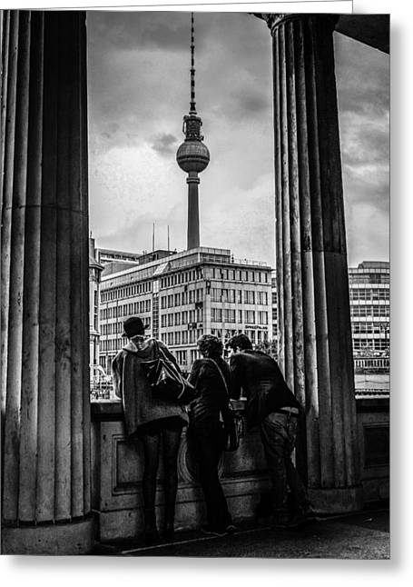 Fernsehturm Greeting Card by Chris Smith