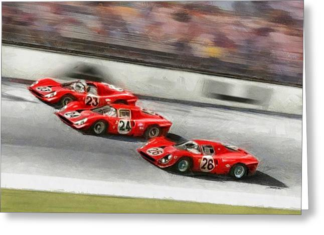 Ferrari 1967 Daytona Greeting Card by Tano V-Dodici ArtAutomobile