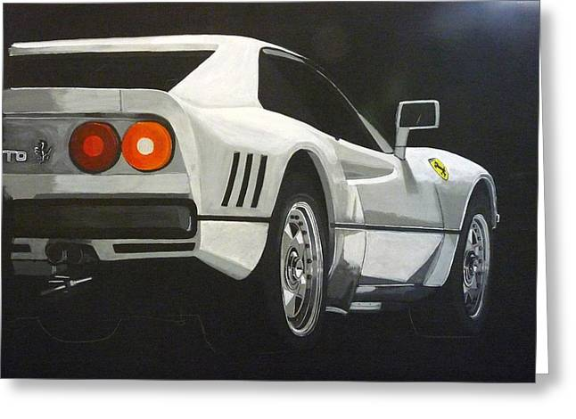 Ferrari 288 Gto Greeting Card
