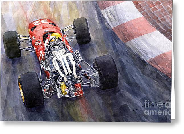 Ferrari 312 F1 1967 Greeting Card by Yuriy Shevchuk