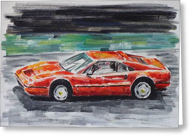 Ferrari 328 Greeting Card by Ildus Galimzyanov