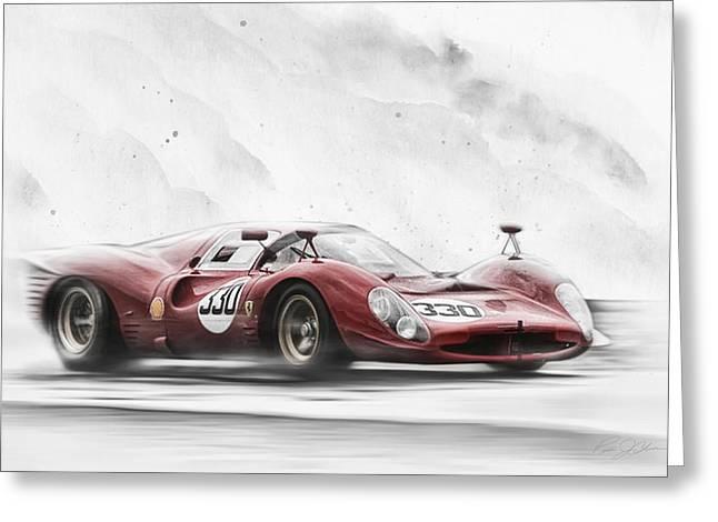 Ferrari 330 P Series Greeting Card by Peter Chilelli