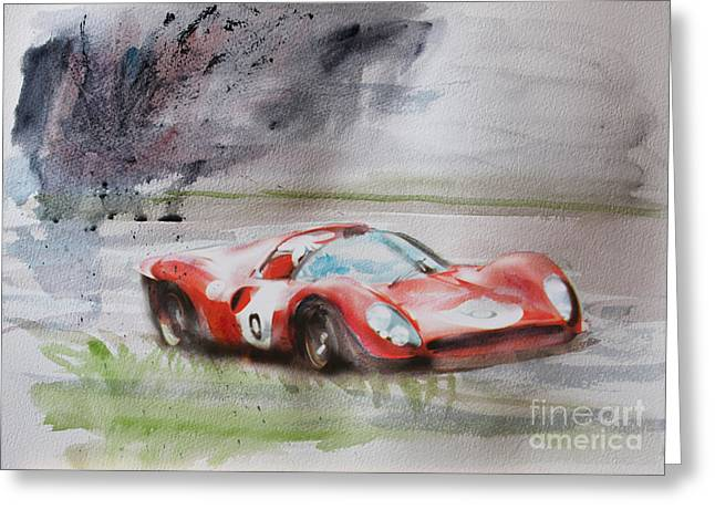 Ferrari 330p4 Spyder  Greeting Card by Roger Lighterness