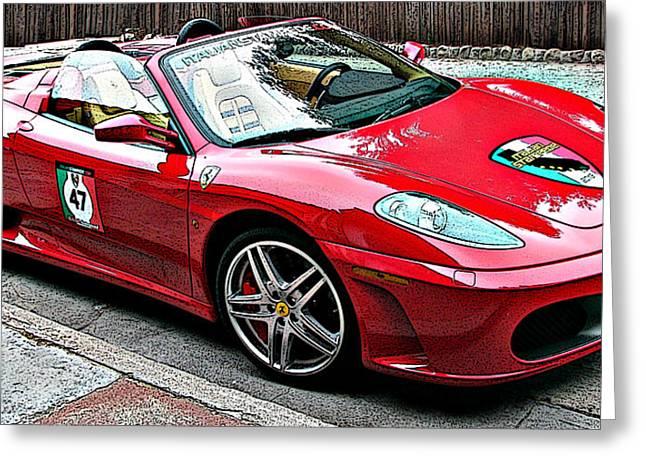 Ferrari 430 Spider Greeting Card