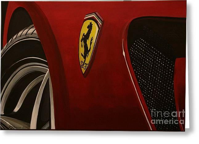 Ferrari 599 Gtb Fiorano Greeting Card by Richard John Holden RA
