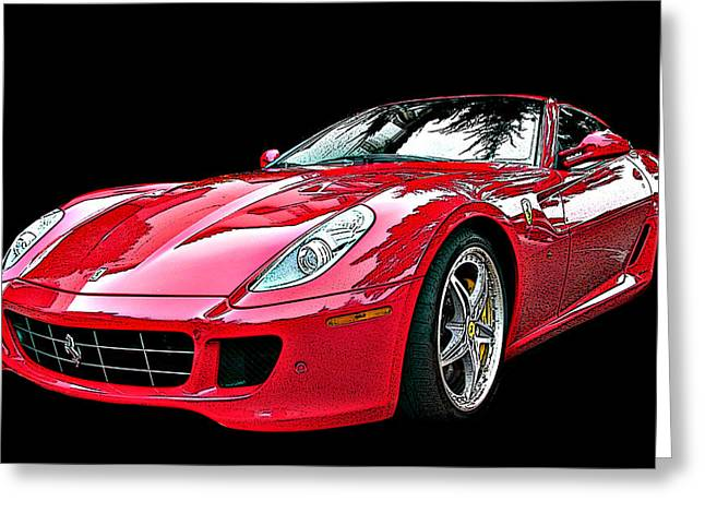Ferrari 599 Gtb Fiorano Greeting Card by Samuel Sheats