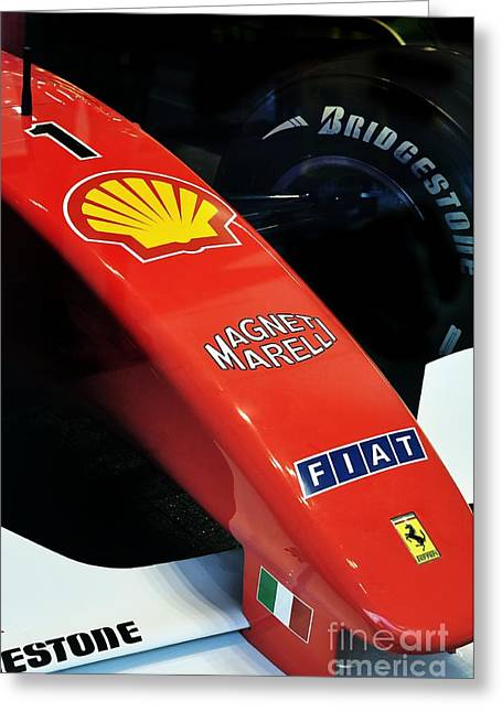 Ferrari  Greeting Card by Andres LaBrada