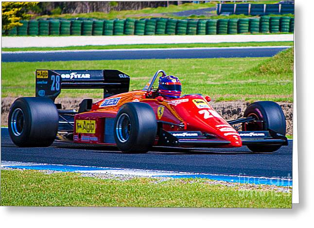 Ferrari At Phillip Island Greeting Card
