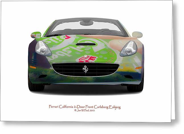 Ferrari California Carlsberg Esbjerg Greeting Card by Jan W Faul