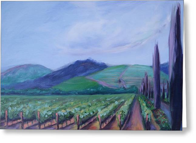 Ferrari Carano Vineyard Greeting Card by Donna Tuten