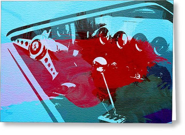 Ferrari Cockpit Greeting Card by Naxart Studio