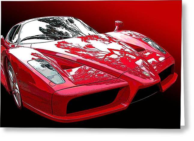 Ferrari Enzo Front Study Greeting Card