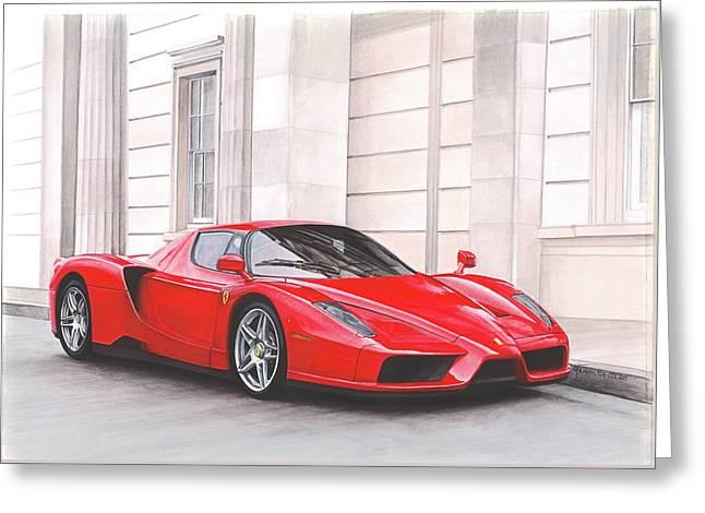 Ferrari Enzo In London Greeting Card