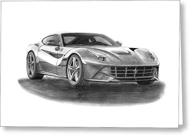 Ferrari F12 Berlinetta Greeting Card by Gabor Vida