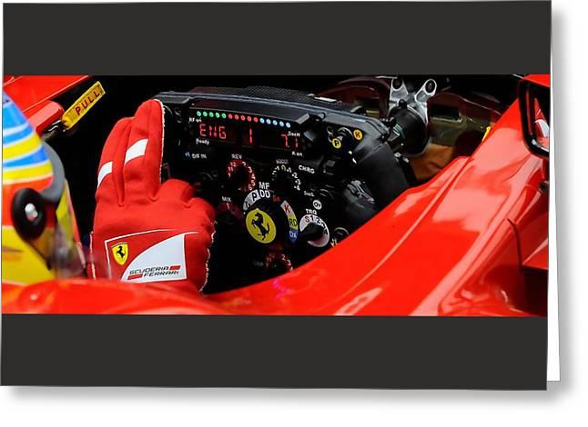 Ferrari Formula 1 Cockpit Greeting Card